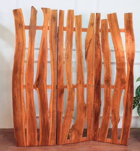 Room Divider Natural Wood 1