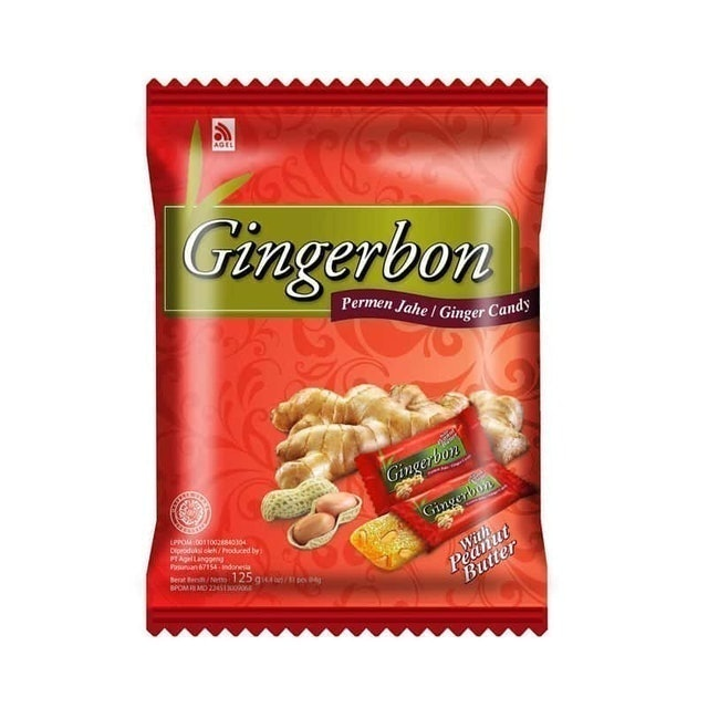 Agel Langgeng Gingerbon Ginger Candy with Peanut Butter 1