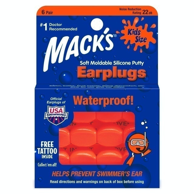 Mack's Soft Moldable Silicone Putty Earplugs - Kids Size 1