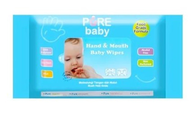 Falmaco Nonwoven Industri Pure Baby Hand & Mouth Baby Wipes 1