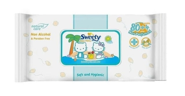 Softex Indonesia Sweety Baby Wipes Non Perfumed 1