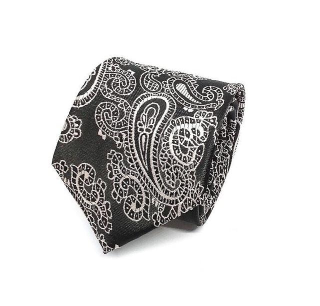 House of Cuff Batik Paisley Black Neck Tie 1