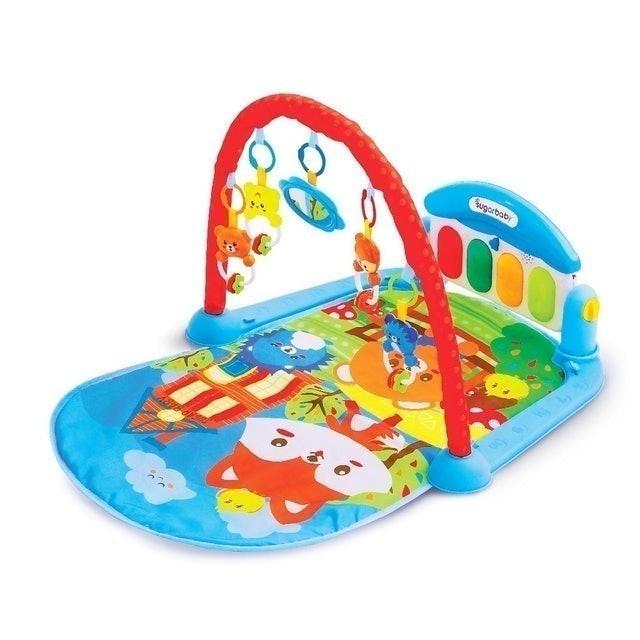 Sugar Baby All in 1 Piano Playmat - Sunday Stroll (Blue) 1