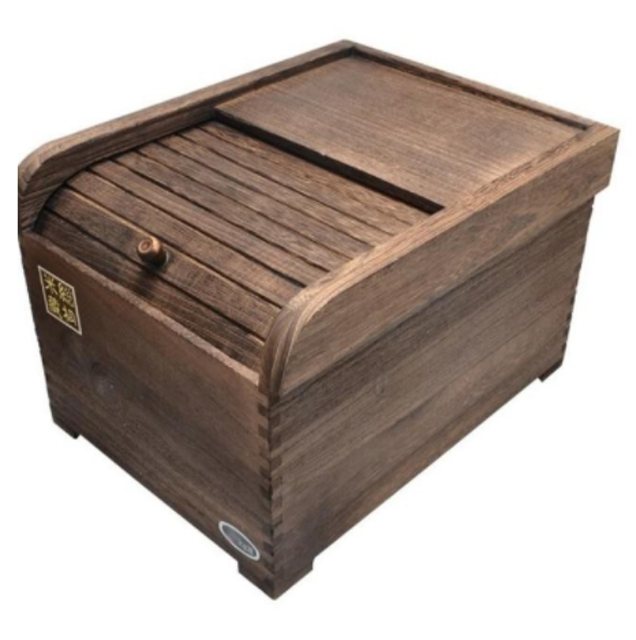 Champion Crafts Natural Wood Paulownia Rice Container 1