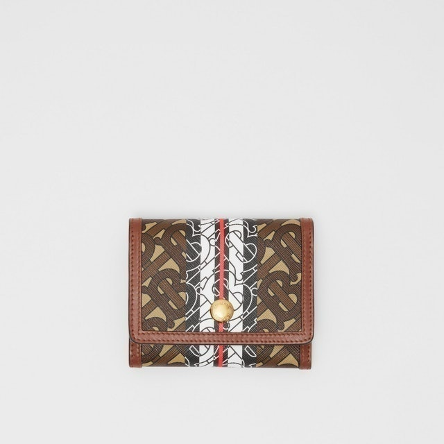Burberry  Small Monogram Stripe E-canvas Folding Wallet 1