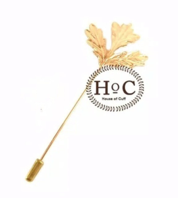 House of Cuff Golden Maple Lapel Pin 1