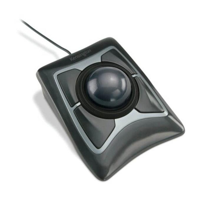 Penggunaan trackball mouse dengan semua jari